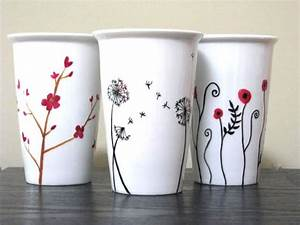Porzellan Bemalen Vorlagen : die besten 25 kaffeebecher ideen auf pinterest tassen bemalen keramik tassen und ~ Orissabook.com Haus und Dekorationen