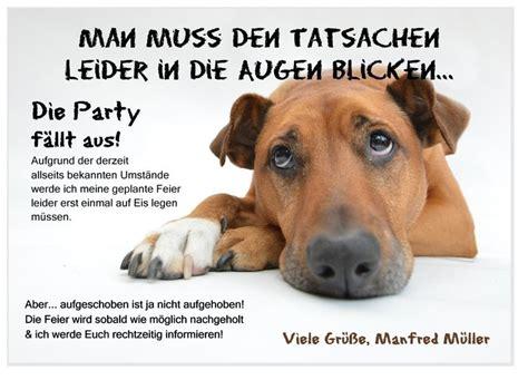 absagekarte trauriger hund   einladung