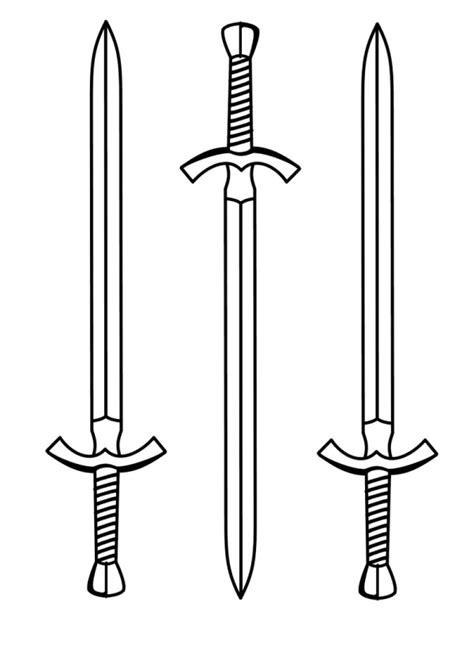 imagenes de espadas  pintar colorear imagenes