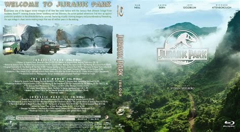 Jurassic Park Cover by Jurassic Park Trilogy Bluray Cover Cover Addict Dvd