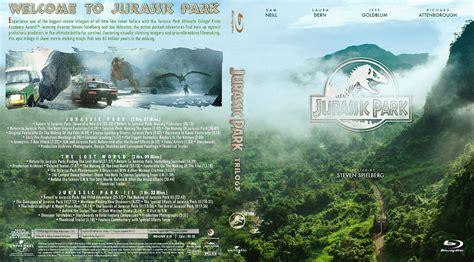 jurassic park cover jurassic park trilogy bluray cover cover addict dvd