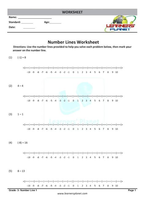 math numberline worksheets class  kids  practice study