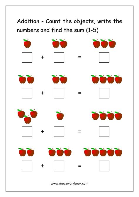 addition worksheets addition  picturesobjects