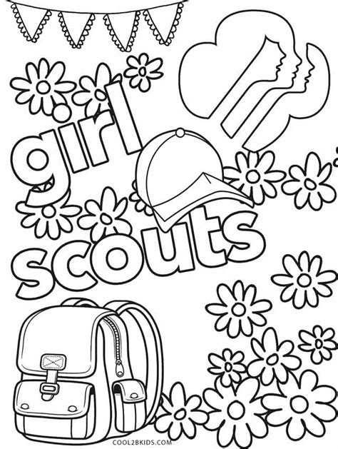 printable girl scout coloring pages  kids coolbkids