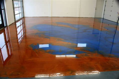 Copper And Royal Blue Metallic Epoxy Flooring ? Home Ideas