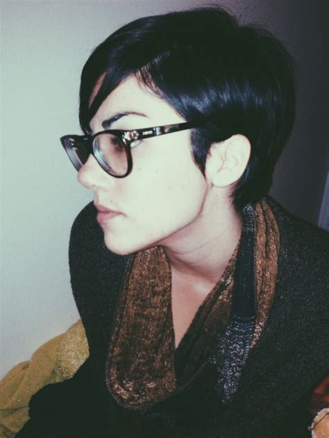 short pixie cut  glasses short hair pinterest