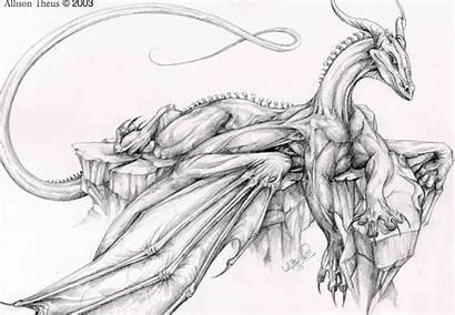 Dragon Drawings Coloring Easy Deviantart Pencil Dragons