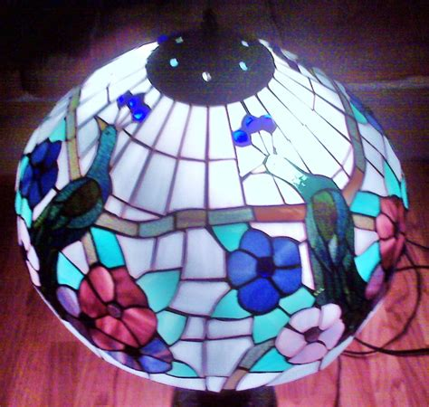 stained glass l shades vintage peacock bird stained glass table or floor l