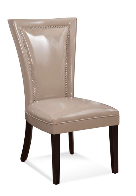 Parsons Dining Chairs With Nailheads by Bassett Mirror Concorde Glass 5 Dining Set W