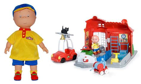 Caillou Fireman's House Playset #giveaway