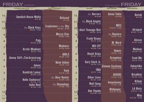 Deck The 2012 Lineup Times by Quot I M So Mad About The Lineup This Lineup I M
