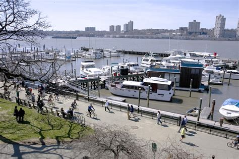 Boat Basin Riverside Park by New York Portraits On The Water In Riverside Park