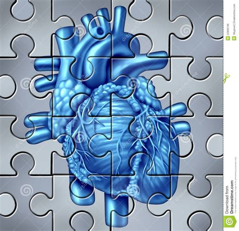 human heart puzzle royalty  stock image image