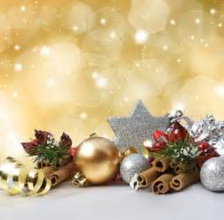 christmas decoration on a glittery gold background photo free download