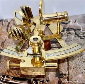 4 U0026quot  Solid Brass Sextant Nautical Working Instrument