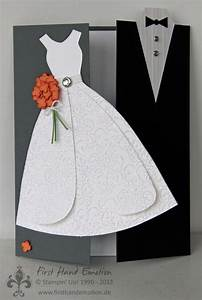 Hochzeitskarte Basteln Vorlage : first hand emotion brautpaar in kartenform ~ Frokenaadalensverden.com Haus und Dekorationen