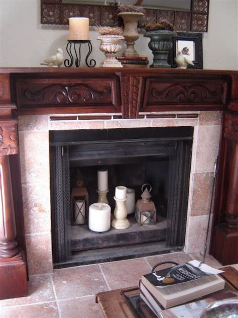 empty fireplace decorations heart and home how to lighten up an empty fireplace at heart and home design ideas