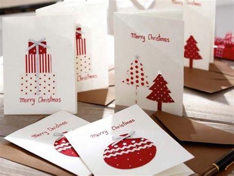 weihnachtskarten mit stoffapplikationen bild  living