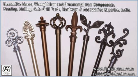 Wrought Iron Hardware, Fencing Railing Parts, Gates Grills