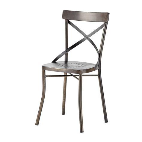 chaise metal jardin chaise de jardin en métal tradition maisons du monde