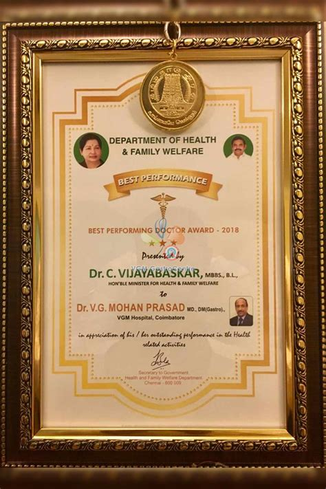 performing doctor award  vgm gastro centre