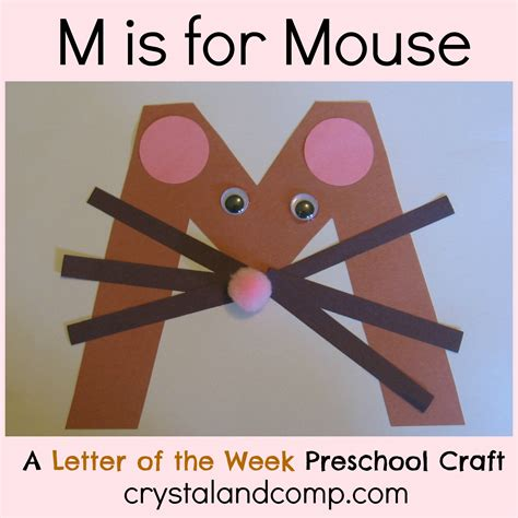 alphabet activities for preschoolers m is for mouse 169 | M is for Mouse crystal and company