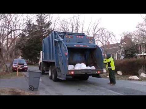 mack le leach rii rear loader garbage truck youtube