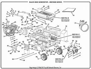Homelite Bm10680 Generator Parts Diagram For General Assembly