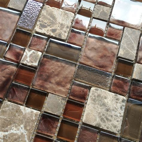 Glass Mosaic Tile Kitchen Backsplash by Burgundy Glass Mosaic Wall Tile Mosaic Kitchen