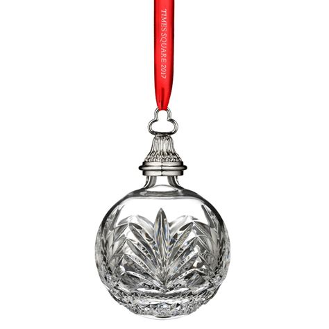 waterford crystal times square ball ornament silver