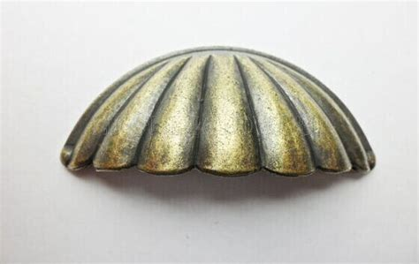 Seashell Cabinet Knobs And Pulls by 64mm Vintage Antique Brass Handles Seashell Cup Pulls