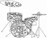 Coloring Pages Musical Band Instruments Drum Mandala Adult Printable Drums Godzilla Adults Sheets Bass Double Getcolorings Colouring Kiss Books Fresh sketch template
