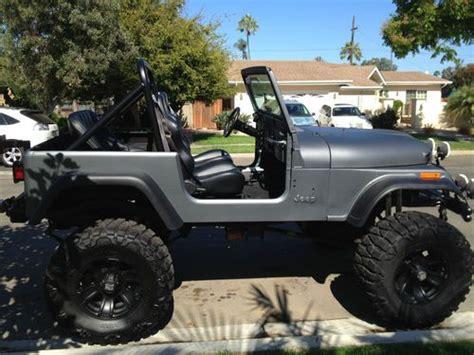 flat gray jeep flat black jeep cj7