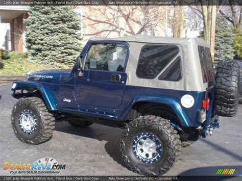 jeep dark blue 2003 jeep wrangler rubicon 4x4 patriot blue dark slate
