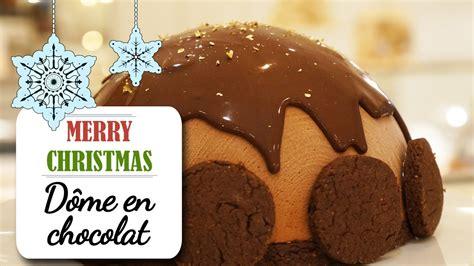 recettes desserts de noel le d 244 me au chocolat fondant recette dessert no 235 l