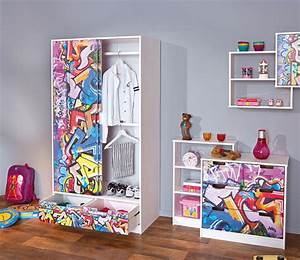 Schrank Bemalen Ideen : etagere murale kidz grafiti blanc grafity ~ Orissabook.com Haus und Dekorationen