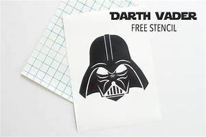 Darth Vader Stencil, free download - The Sewing Rabbit