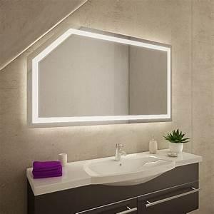 Spiegel Mit Schräge : yanagod led badspiegel mit dachschr ge online kaufen ~ Michelbontemps.com Haus und Dekorationen