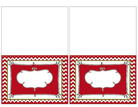 Place Card Templates Freechristmas Template 19 Printable Place Cards Baby