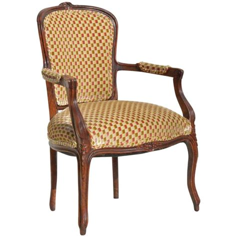 louis xv fauteuil in cut velvet for sale at 1stdibs