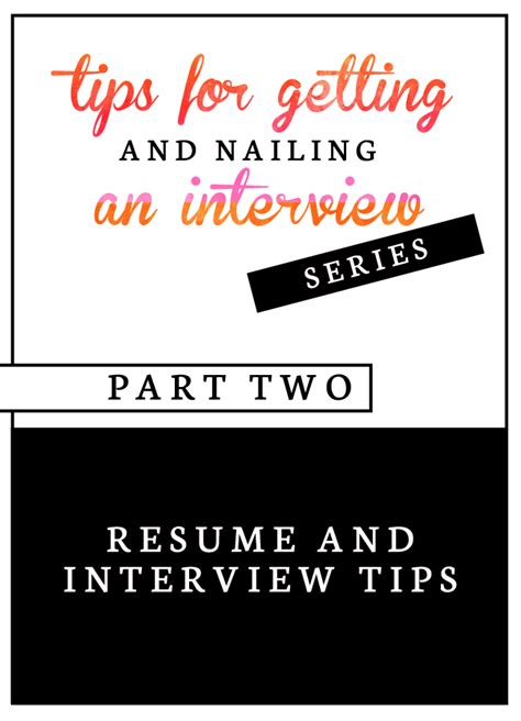 Tips For Resumes And Interviews by Resume And Tips Part 2 Venus Trapped In Mars