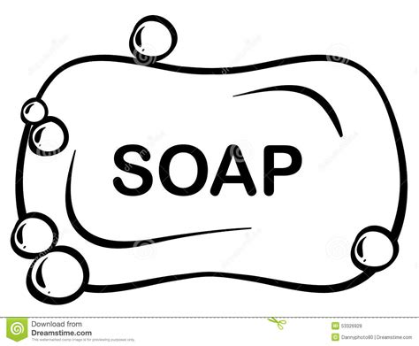 Bar Of Soap Coloring Page