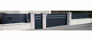 Portail Alu Coulissant 4m : portail plein coulissant aluminium au design original ~ Dailycaller-alerts.com Idées de Décoration