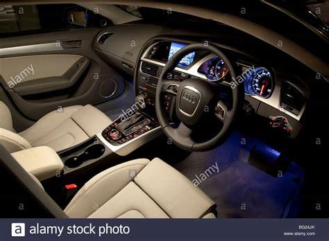 Audi A5 Sportback Interior At Night Stock Photo Royalty