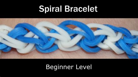 rainbow loom spiral bracelet youtube