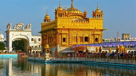 full hd wallpaper amritsar lake temple exciting india