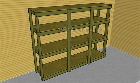 how to build shelves in my garage how to build wood garage storage shelves image mag