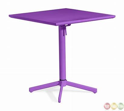 Outdoor Table Folding Purple Square Modern Wave