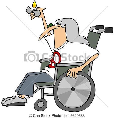 dessins de fauteuil roulant vieux hippy ceci illustration csp5629533 recherchez des