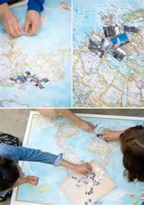 DIY Travel Map Memory